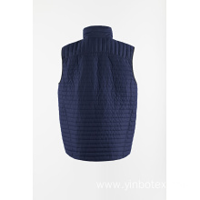 Woven light padding vest with quilting